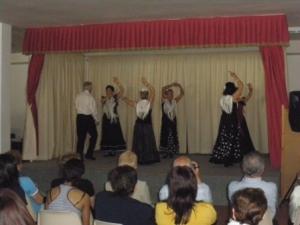 exhibición de flamenco